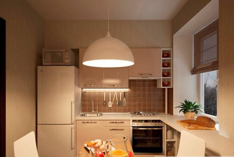 Ремонт малогабаритной кухни 6 кв м
