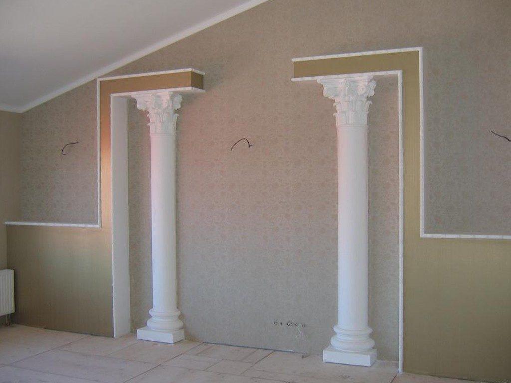 Установка колонн