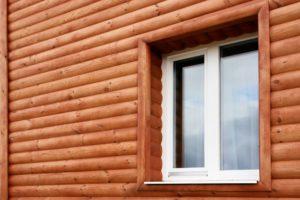 Облицовка фасада имитацией бруса или блок-хаусом